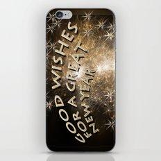 Happy new year greetings iPhone & iPod Skin