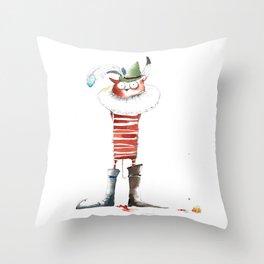 Naughty Boy Throw Pillow