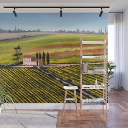 Vineyards In Tuscany Italy Wall Mural