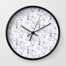 Lavender Twig Wall Clock