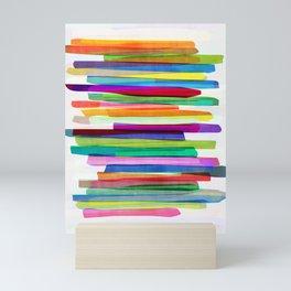 Colorful Stripes 1 Mini Art Print