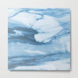 Marble Blue Ocean Metal Print