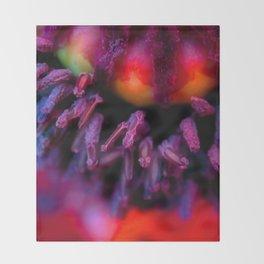Oriental Poppy Throw Blanket