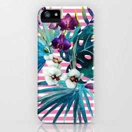 orchid of stripe iPhone Case