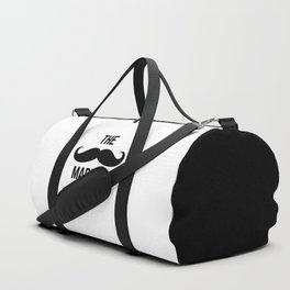 Mustache Made Me Do It Funny Quote Duffle Bag