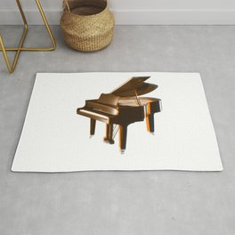 The piano orange Rug