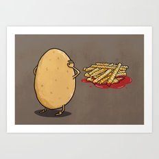 There will be...fries! Art Print