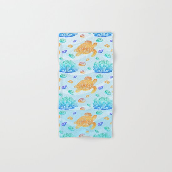 Marine Pattern 10 Hand & Bath Towel