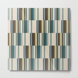 vertical broken stripe-teal Metal Print