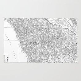 Vintage Map of Maine (1911) Rug