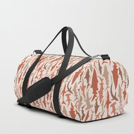 Swimming with Sharks in Coral and Brown Duffle Bag