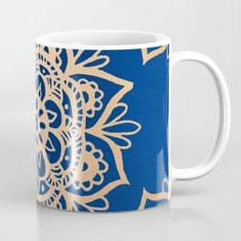 Blue and Gold Mandala Coffee Mug
