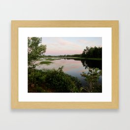 Pennamaquan River at Sunset Framed Art Print