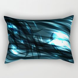 glowing cosmic azure background of cobalt metal lines. For registration of paper or banners. Rectangular Pillow