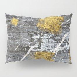 Gold Leaf on Marble Pillow Sham