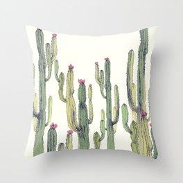 cactus drawing Throw Pillow