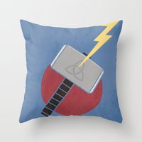 thor Throw Pillows featuring Thor by Steal This Art