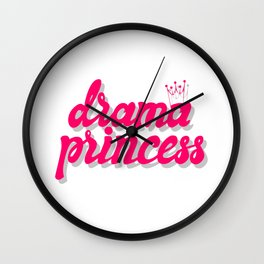 Drama princess Wall Clock