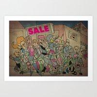 sale Art Prints featuring Sale by Matt Jeffs