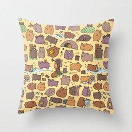 Beary Cute Bears Throw Pillow