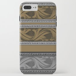 Fret Stripe in Black and Brown iPhone Case