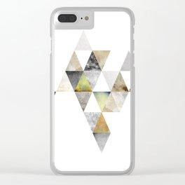 triange, geometric, pattern Clear iPhone Case