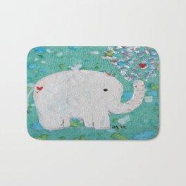 Elephants Love Bath Mat