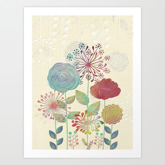 Flower Tales Art Print