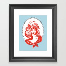 sailor girl Framed Art Print