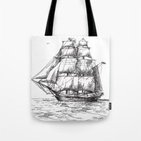 marine Tote Bags featuring marine by ismailburc
