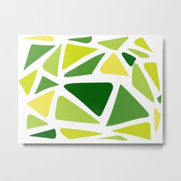 Green and yellow shapes Metal Print