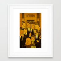 reservoir dogs Framed Art Prints featuring Reservoir Dogs by Ale Giorgini