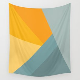 Abstract Mountain Sunrise Wall Tapestry