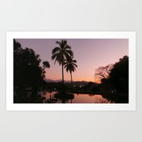 colombia Art Prints featuring SUNSET(Colombia) by patricia murray