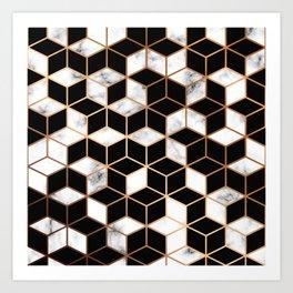 Marble & Geometry 005 Art Print