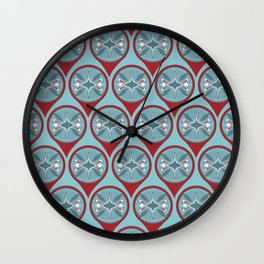 Tribal Markers Wall Clock