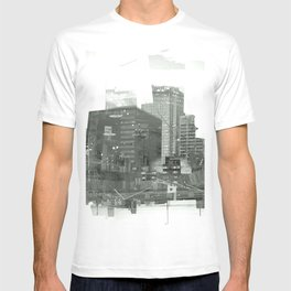 cutting through T-shirt