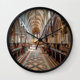 Lichfield Cathedral (Painting) Wall Clock