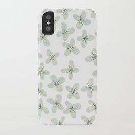 Blue Cherry Blossom iPhone Case