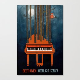 Moonlight Sonata - Beethoven Canvas Print