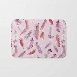 The colors of autumn in pink Bath Mat