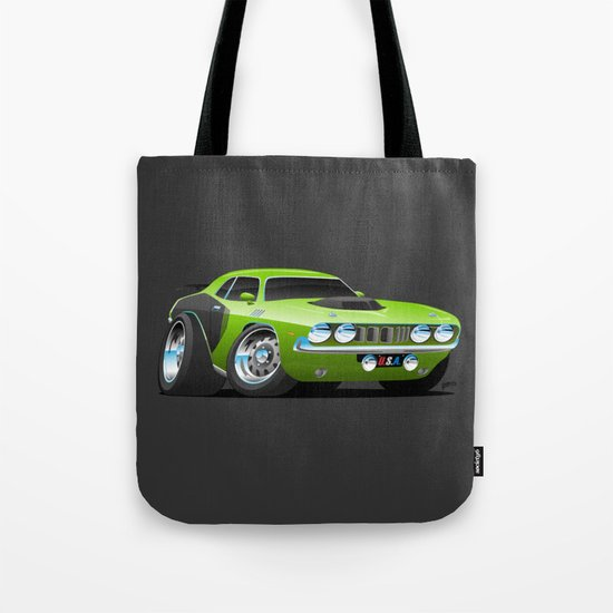 Classic Seventies Style American Muscle Car Cartoon by hobrath