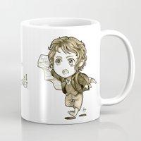chibi Mugs featuring Chibi Bilbo by KuroCyou