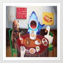 Animals Buffet Art Print