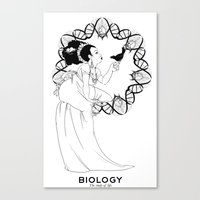 biology Canvas Prints featuring Biology by Verdant Winter