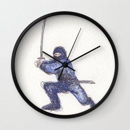 Blue Ninja Wall Clock