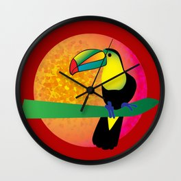 Toucan - Red Wall Clock
