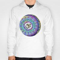 ohm Hoodies featuring Ohm Mandala  by Kaleidoscopic