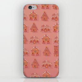 Gingerbread house pattern iPhone Skin
