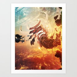 Miscalculated Jump Art Print